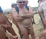 Любительское Свингеры буккаке на пляже