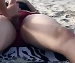 Extreme risk with anal sex in public on the beach People near! Real Amateur