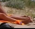 Gloria on the beach