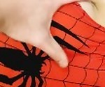 CREMPIE Spider-Girl gets cum on her pussy  Cosplay Spider-Girl