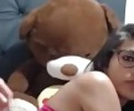 Slutty TS In Glasses Anally Destroyed By Her Bf