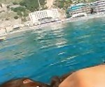Amateur Holidays Sucking a Big Cock in a boat - MySweetApple