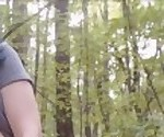 Camgirl FAIL Caught Fucking a Dildo in the Woods
