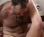 Hairy daddy fucking a young girl.
