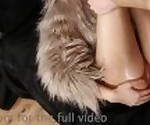 Клава играет с едой и показывает ее совершенное тело