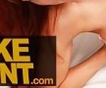 Fake Agent Big tits Jennifer Keelings gets a facial