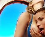 Горячей колледж шлюшки втроем на общественном пляже втроем - Молли таблетки & Картер Фокс