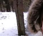 Я люблю быстрый секс на свежем воздухе даже зимой - кончить на мое милое личико ПОВ
