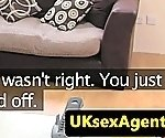 Casting newbie licking up uk agents cum