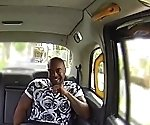 Busty london cabbie cockrides BBC on backseat