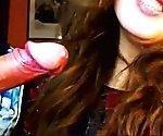 Hot Cute Teen Sucks Cock On Webcam