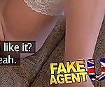 Fake Agent UK Naughty rebel tart lets agent fuck her ass